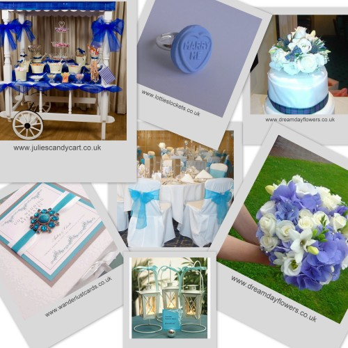 A Blue Themed Wedding